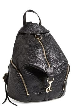 Free shipping and returns on Rebecca Minkoff 'Julian' Backpack at Nordstrom.com. A campus-classic backpack goes glam in glazed, lavishly textured leather for serious street-chic attitude. A gleaming goldtone clip-lock detail and dangling zip tassels add signature touches.