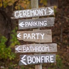 rustic timber signs - Google Search