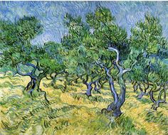 Vincent van Gogh: Olive Grove. Completion Date: 1889 Place of Creation: Saint-rémy-blanzy, France Style: Post-Impressionism