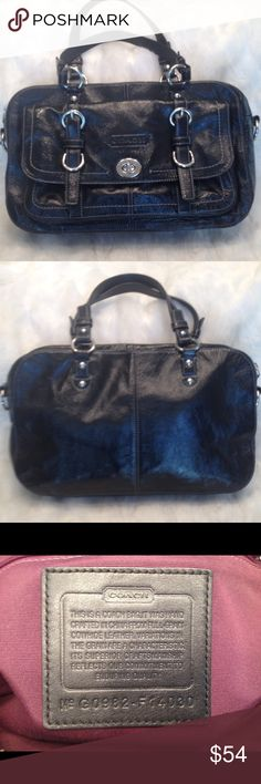 EUC COACH Penelope LEATHER Satchel COACH#G0982-F14030. In good shape. Little bit of leather creasing but scuff free. Liner is clean. Straps are good. Measures 8.5x14 Coach Bags Satchels