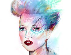 """Check out new work on my @Behance portfolio: """"Kate Moss Illustration"""" http://be.net/gallery/43718083/Kate-Moss-Illustration"""