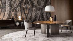 Tavolo moderno / di Rodolfo Dordoni / rotondo - MORGAN - Minotti. Round table. Tavolo rotondo. 6850€