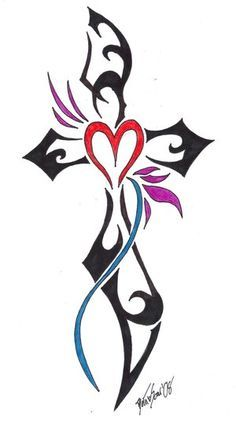 free religious clip art line drawings heart - Google Search