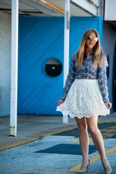 another beautiful white lacy skirt