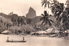 Le village de Haapiti à Moorea en 1930.  #tahitiheritage #old #FrenchPolynesia #remember #past #Moorea