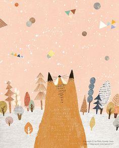 89번째 이미지 Art And Illustration, Fuchs Illustration, Illustrations And Posters, Children's Book Illustration, Graphic Design Illustration, Art Inspo, Illustrators, Art Drawings, Images