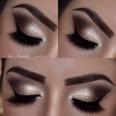 Golden Smokey Eye Makeup Tutorial von Lisa Eldridge - Make-up Cute Makeup, Gorgeous Makeup, Hair Makeup, Awesome Makeup, Night Makeup, Eyeliner Makeup, Golden Smokey Eye, Smokey Eyes, Smokey Eye Makeup
