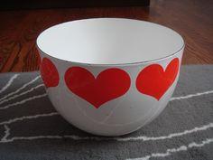 ARABIA FINEL FINLAND KAJ FRANCK red heart enamel bowl in Collectables, Vintage/ Retro, 1960s | eBay