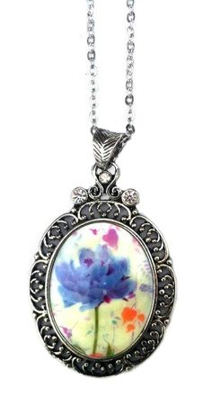 """**Coupon Code!** This darling necklace is only $14.60! PLUS get 10% off your entire order, & FREE shipping with discount code """"SAVE10"""" at checkout. #necklace #floral"""