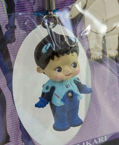 Evangelion Shinji Ikari Plug Suit Rose O'neill Kewpie Kewsion Strap JAPAN ANIME