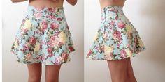 #floral #skaterskirt  #skirt
