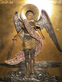 View album on Yandex. Religious Images, Religious Art, Russian Icons, Religious Paintings, Archangel Michael, Guardian Angels, Orthodox Icons, Angel Art, St Michael