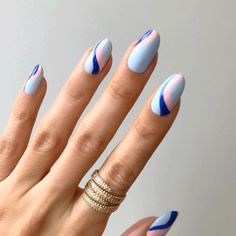 Glamorous Pastel Nail Art Ideas Trends 2019 - Fashonails - You are in the right place about spring nails ombre Here we offer you the most beautiful pictures - Pastel Color Nails, Neutral Nails, Nail Colors, Pastel Colors, Pastel Blue, Faux Ongles Gel, Gel Nails, Nail Polish, Geometric Nail
