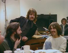 """The day before the roof-top concert. (George: """"I don't wanna go on the roof!"""")"""
