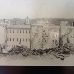 had dinner here! odescalchi Castle near Rome, Italy. sketch# print. Also location of Tom Cruise & Kate Holms wedding