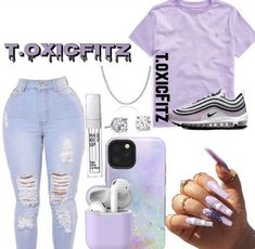 Baddie Outfits Casual, Swag Outfits For Girls, Teen Girl Outfits, Cute Swag Outfits, Cute Comfy Outfits, Girls Fashion Clothes, Nike Outfits, Teen Fashion Outfits, Prep Fashion