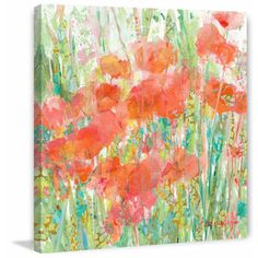 Dewey Poppies II' Painting Print on Wrapped Canvas