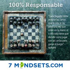 100% Responsable #7mindsets #100%responsable