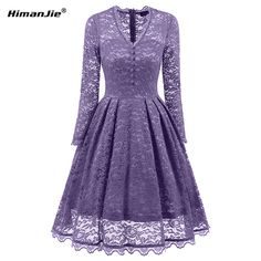 d3314db7dd6044 US $20.59 25% OFF|Aliexpress.com : Buy Himanjie 2017 Autumn Women V Neck  Lace Dress Elegant Sequin Bodycon swing Dress Lady hollow out vintage  patchwork ...