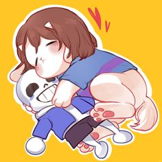 Overtale frisk is a cuddly dweeb