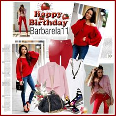 """HAPPY BIRTHDAY BARBARELA11"" by k-hearts-a ❤ liked on Polyvore"