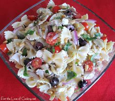 For the Love of Cooking » Mediterranean Chicken Pasta Salad