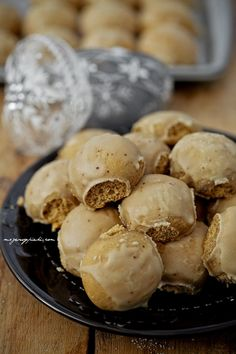 Honey Cookies with Coffee Icing | Pierniczki brukowce (in Polish)...bake them early and leave them to soften