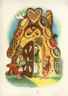 les meli melo de mamietitine - Page 31 Fairytale Fantasies, Fairytale Art, Hansel Y Gretel, Candy House, Brothers Grimm, Vintage Fairies, Grimm Fairy Tales, Kids Story Books, Gif Animé