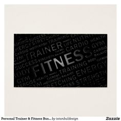Personal Trainer & Fitness Business Card on Zazzle Each Card is Customizable to include your Personal Information @zazzle #zazzle #business #card #fitness #gym #work #out #strength #trainer #training #personal #personaltrainer #athletic #athletics #exercise #shape #shaped #buy #shop #sale #marketing #advertise #advertisement #self #promotion
