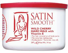 Satin Smooth Wild Cherry Hard Wax with Vitamin E (14oz) *love this stuff for face*