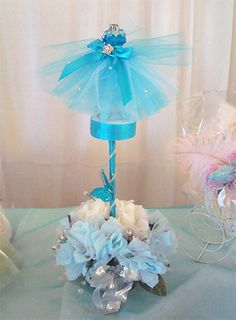 quinceanera centerpieces 2013 flowers and more sweet 16 quinceanera    Quinceanera Centerpieces Blue