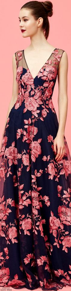 Marchesa Notte Pre-Fall 2016 women fashion outfit clothing style apparel @roressclothes closet ideas