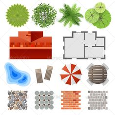 Elements for Landscape Design - Nature Conceptual