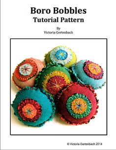 PDF Sewing Pattern - Stitched Boro Bobbles Tutorial Pattern - Instantly Downloadable