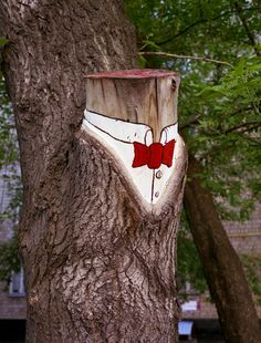Creative Funny Street Art of A Tree. You know who I immediately thought of.
