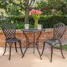 Shop for La Sola Outdoor 3-piece Cast Aluminum Bistro Set by Christopher Knight Home. Get free delivery at Overstock.com - Your Online Garden