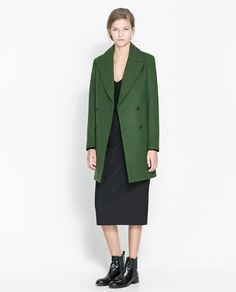 Image 1 of DOUBLE BREASTED WOOL COAT from Zara