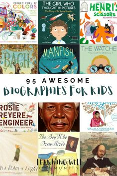 I love biographies for kids and I feel that they've come a long way in the last several years from the dry, boring books they used to be This post is a huge list of categorized biographies for kids that you will love! is part of Homeschool books - Autobiographies For Kids, Biography Project, Artist Biography, Good Books, My Books, Best Biographies, Homeschool Books, Homeschooling, Toddler Activities