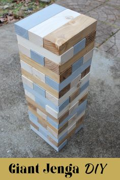 This tutorial will show you how to make your very own Jenga yard game. And I'll show you have to make a beautiful carrying case to transport the game. This is a wonderful project for your family or makes a great wedding gift. Outdoor Jenga, Jenga Diy, Jenga Game, Outdoor Games, Diy Furniture Projects, Cool Diy Projects, Diy Wood Projects, Easy Woodworking Projects, Diy Yard Games