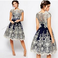 Buy 2019 Summer Dress Short Sleeve Lace Mesh Dress Woman Vintage Lace Embroidery Dress Ball Gown Dresses at Wish - Shopping Made Fun Party Gown Dress, Lace Party Dresses, Ball Gown Dresses, Wedding Dresses, Lace Wedding, Bridesmaid Dresses, Tutu Party, Dresses Uk, Club Dresses