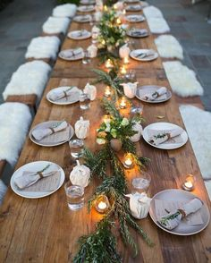 Furry benches - use textured blankets for outdoor seating to help keep wedding guests warm