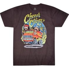 Cheech and Chong Men's Graphic Tee, Size: Small, Black