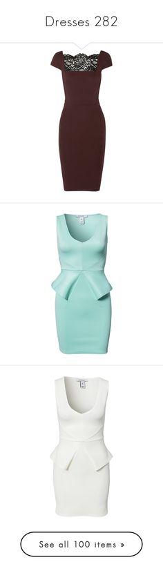 """Dresses 282"" by singlemom ❤ liked on Polyvore featuring dresses, merlot, just cavalli dresses, slimming dresses, red dress, tailored dresses, lace panel dress, jasmine, mint and party dresses"