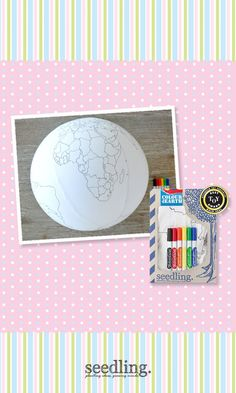 Use your imagination and paint the world any color you choose with our cool planet craft.