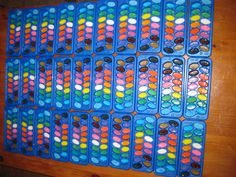 """Yes, I made 30 ice cube trays of water colors *stolen from pinterest*.  http://littleartsylittlecraftsy.blogspot.com/2012/10/homemade-water-color-paint.html  For 30 trays do one color at a time: 1.5 cups baking soda, 3/4 cup vinegar, 1TBL corn syrup, 3/4 cup corn starch.  Those are the measurements I used for 30 """"cubes"""" and mix the food coloring with the vinegar 1st for consistent color."""