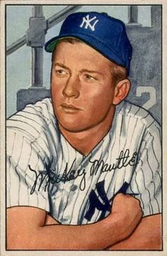 e7a1e217768 1952 Bowman 101 Mickey Mantle New York Yankees Baseball Card