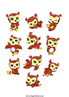 LE - cute Baby Girly Owlfree vector clipart designs for digitizers textile and fashion designers