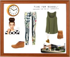 """""""What to wear to school...."""" by horsemania ❤ liked on Polyvore"""