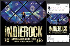 Indie Rock Flyer by KiraYamato Design Studio on Flyer Design Templates, Flyer Template, New Flyer, Concert Flyer, Business Flyer, Indie, Social Media, Rock, Flyers