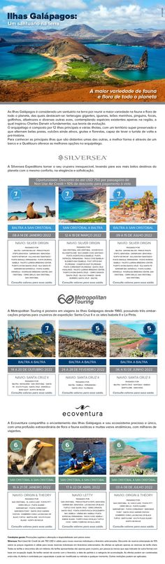 Um santuário na terra, com a maior variedade de fauna e flora de todo o planeta. Flora, Map, Luxury Cruises, Galapagos Islands, Viajes, Destinations, Location Map, Plants, Maps